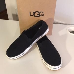 ❤️New Ugg Bren Black Mesh Slip On Sneakers Sz 9.5
